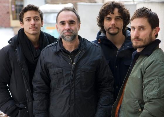 Jesuíta Barbosa, Karim Aïnouz, Wagner Moura e Clemens Schick